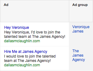 Google AdWords Ad Grouping